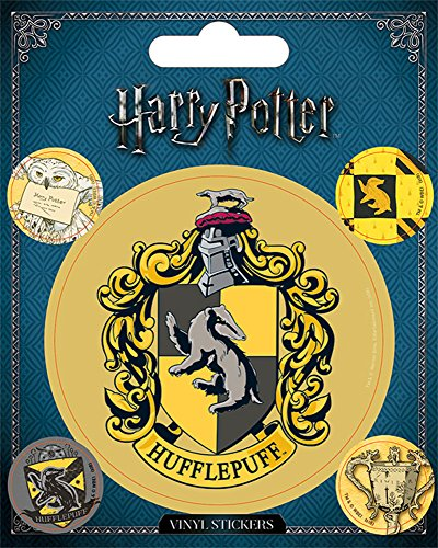 Harry Potter - Hufflepuff - Stickerset Set 5 Sticker Aufkleber - Grösse ca. 10x12,5 cm