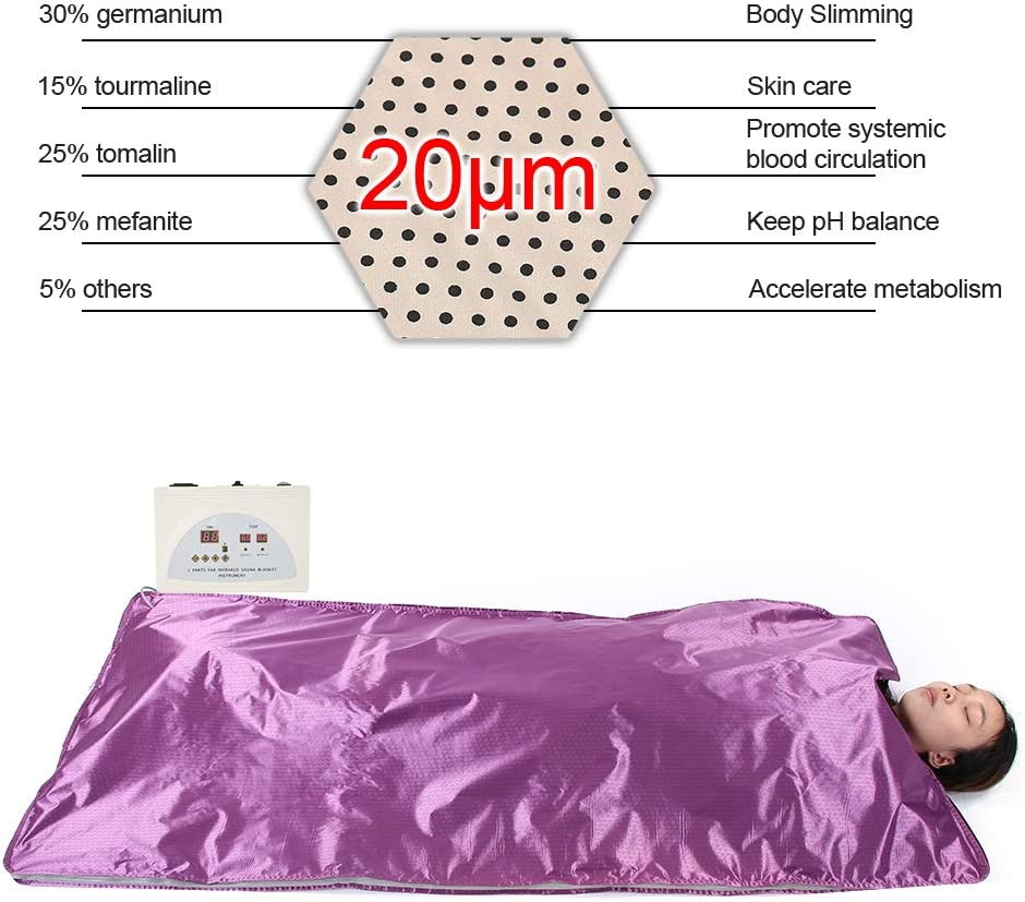 AYNEFY Sauna Heating Blanket Far in-frared FIR Sauna Blanket Body Shape Slimming Fitness Machine Weight Loss Beauty Equipment with Remote Control for Home Beauty Salon 70 x 33 inch #3