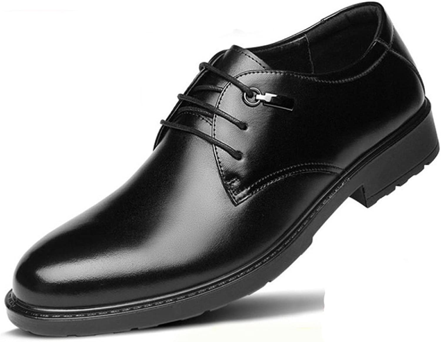 Men's Leather Formal Brogues Classic Wedding shoes Breathable Lace-ups Oxford shoes For Men Business shoes