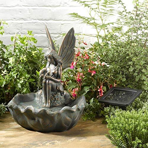 Smart Garden Solar Fairy Leaf Garden Water Feature Fountain