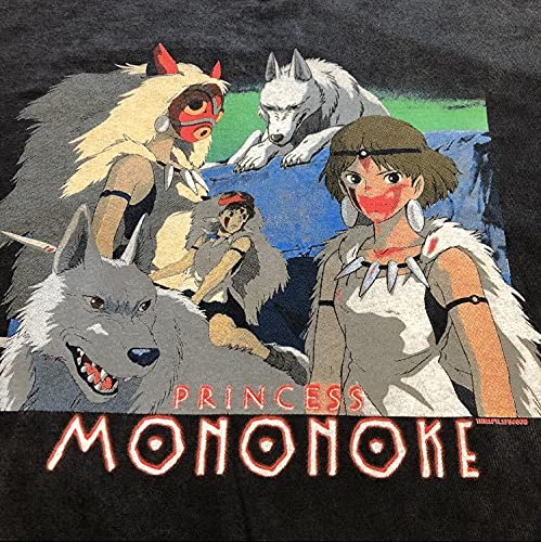 もののけ姫 Princess MononokeジブリTシャツメンズ