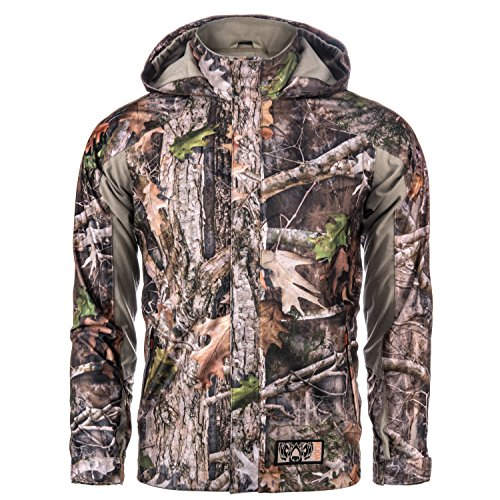 Koda Adventure Gear Kids True Timber Hardshell Camo Hunting Jacket, Kanati, M