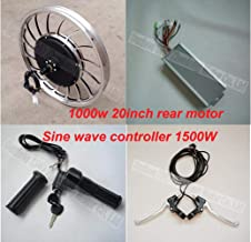 GG Boom Bicycle Conversion kit 20inch Motor 1000W Rear Integrated Wheel hub Motor 48v/60v/72v Easy Install /20