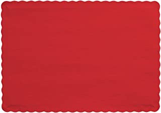 Creative Converting 863548B Paper Scalloped Edges Placemats, 9.45