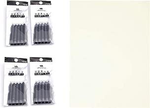 Writers Pens Pen Refill Set 20 Jinhao Fountain Pen Ink Cartridges Standard International Size & Bonus Blotting Paper (Black Ink)