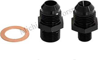 Michigan Motorsports 044 Fuel Pump Inlet & Outlet Fittings with crush sleave 6 AN -6 Fits Bosch Fuel Pumps