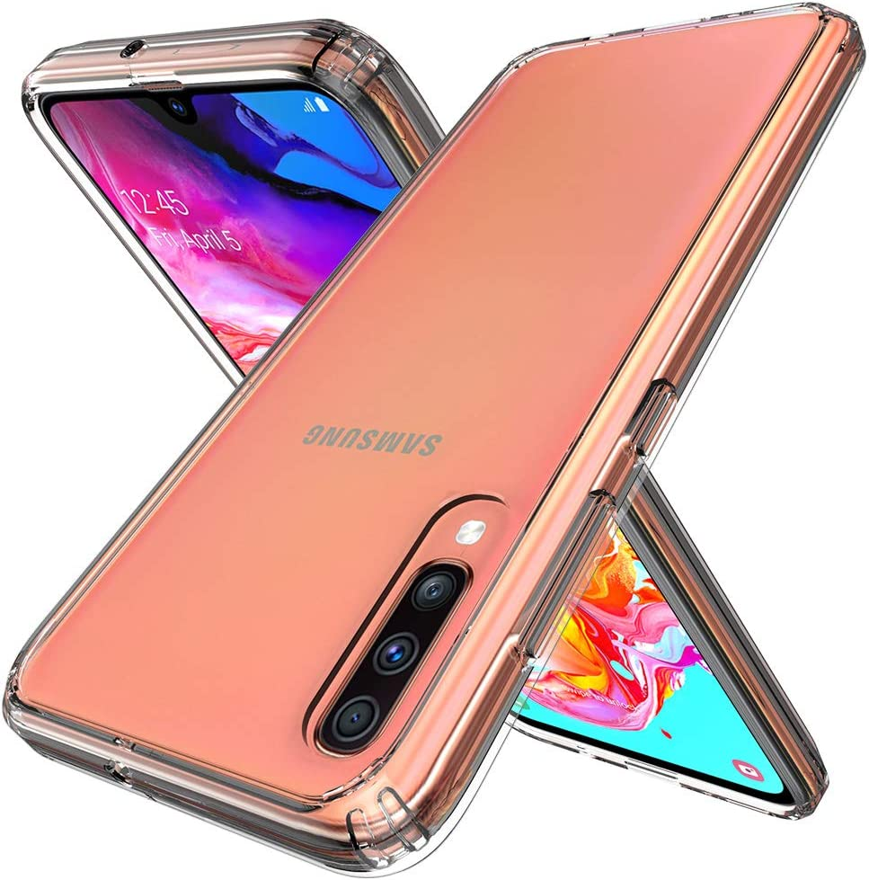 Raysmark Samsung Galaxy A70 Case, [Shock-Absorption] Air Hybrid Slim Fit Shockproof Anti-Drop Crystal TPU Bumper + [Clear] Hard Back Protective Case Cover Compatible for Galaxy A70 2019 (Clear)