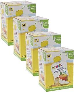 HiPP 蘋果梨子和嬰兒面包干,4件裝(4 x 90 克)