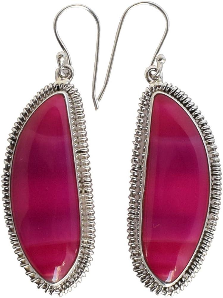 Agate Gemstone 925 Solid Sterling depot Silver Pretty Looking Earrings Surprise price