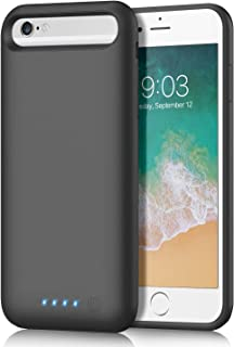 Battery Case for iPhone 6s/6 6000mAh, iPosible Upgraded Portable Rechargeable Charging Case Extended Battery Pack for Apple iPhone 6s/6 (4.7 inch) Protective Backup Cover Charger Case Power Bank-Black