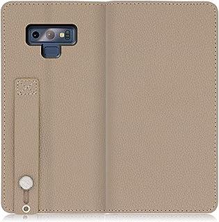 LOOF HOLD Galaxy Note9 / SC-01L / SCV40 ケース 手帳型 スマホケース 磁石なし カバー 本革 手帳型ケース カードポケット ベルトホールド付き 落下防止 スタンド機能付 カード収納 (グレージュ)