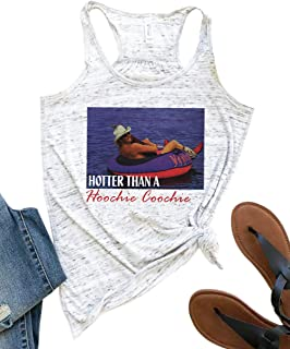 YUYUEYUE Hotter Than a Hoochie Coochie Tank Top Women Summer Country Music Vacation Vest Racerback Tanks Cami Shirts