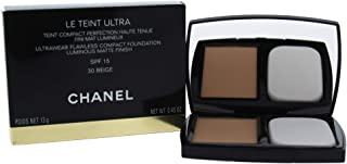Chanel Le Teint Ultra Ultrawear Flawless Compact Foundation Luminous Matte Finish SPF15 - # 30 Beige, 13 gm