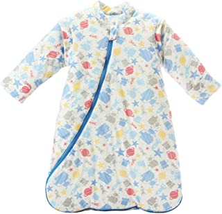 EsTong Unisex Baby Sleep Bag Wearable Blanket Cotton Sleeping Bag Long Sleeve Nest Nightgowns Robot/3.5 Tog L/2-4 Years