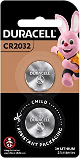 Duracell Lithium Coin Battery 3V, 2 Pieces (CR2032)[Lasts up to 100% Longer] & [Child Resistant Packaging] Silver