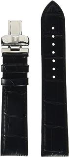 Leather Calfskin Black Watch Strap, 20mm Width (Model: T600031944)