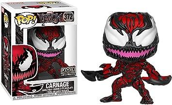 Funko Carnage (f.y.e. Exclusive): Venom x POP! Marvel Vinyl Figure & 1 PET Plastic Graphical Protector Bundle [33079 - B]