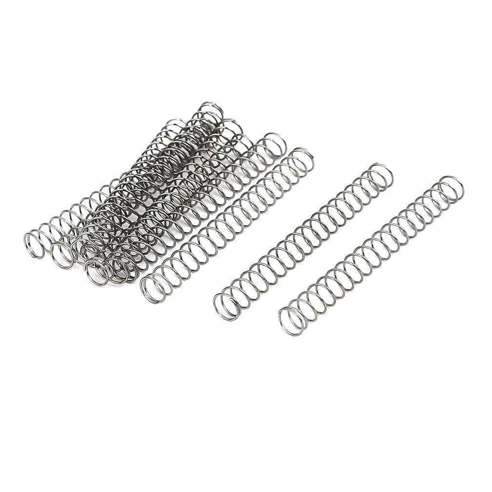 解釈誤幻想uxcell 圧縮ばね 圧縮スプリング 304ステンレス鋼 0.4mmx5mmx45mm 10個入り