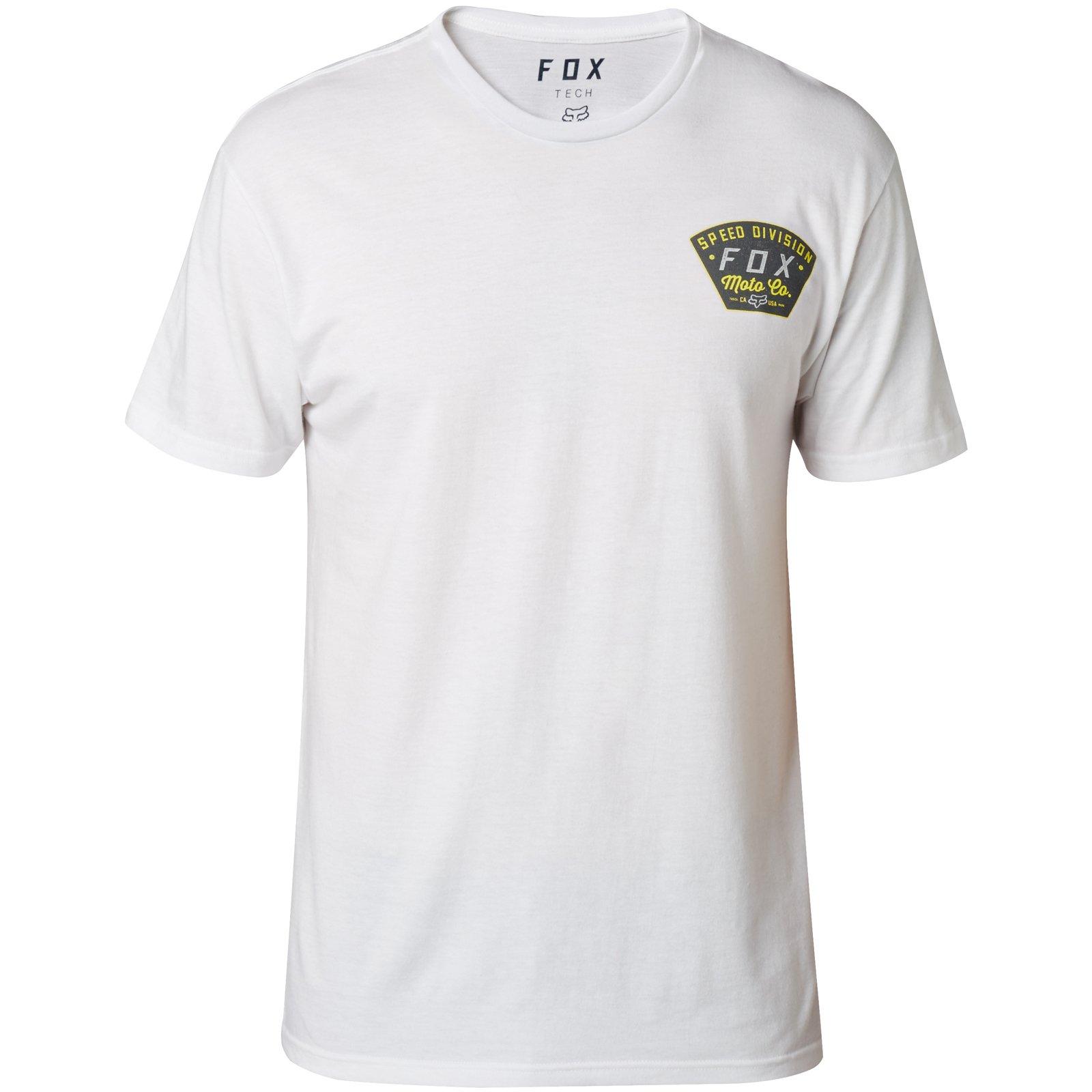 Fox Seek and Construct Tech - Camiseta (Talla S), Color Blanco: Amazon.es: Coche y moto