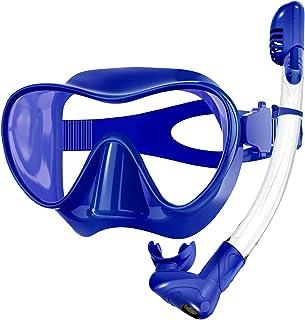 Sponsored Ad - Rodicoco Snorkel Set Frameless Snorkel Goggles Foldable Snorkel Gear Detachable Snorkel Mask with 180° Pano...