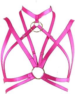 pink harness bralette