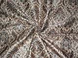 Brokat-Stoff, grün X Metallic Gold Farbe 111,8cm by the