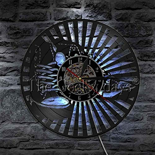 Diseño de Calzado Reloj de Disco de Vinilo Arte Decorativo para el hogar Club Juego de Dormitorio Tienda Reloj de Pared y Zapatillas