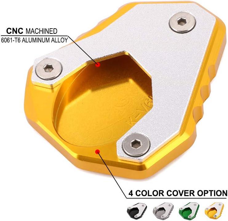 Jfg Racing Cnc Motorrad Ständer Seitenständer Verlängerung Fuß Pad Unterstützung Platte Für Versys 650 Versys650 2015 2016 2017 2018 Gold Auto