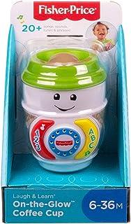 Fisher-Price GHJ04 Laugh & Learn On-The-Glow Taza de café, juguete interactivo para bebé, multicolor