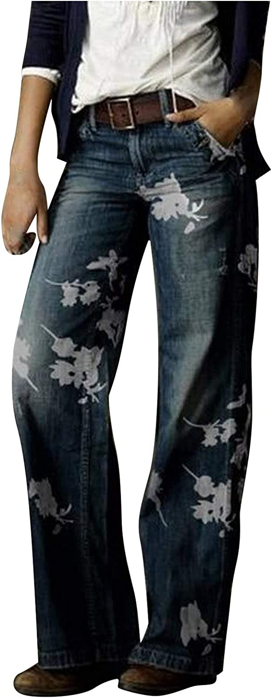 MASZONE Y2K Fashion Pants for Women High Waisted Plus Size Retro Jeans Straight Fit Wide Leg Denim Pants Trousers