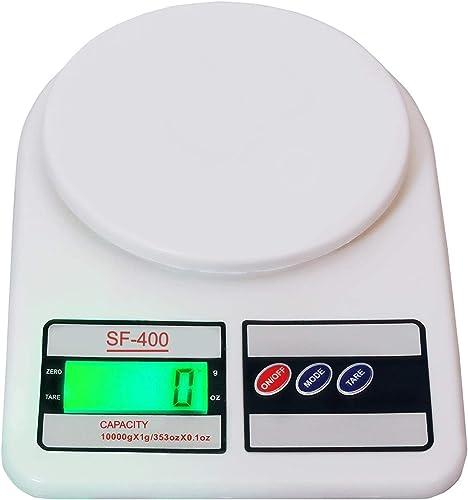MORFEX Electronic Kitchen Digital Weighing Scale Digital Electronic Weight Machine For Home Kitchen Weighing Scale Kitchen Weigh Food Fruits Vegetables White 10 Kg