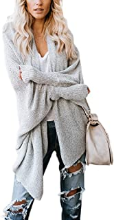 Strickjacke langärmelig Jacke Cardigan Oversize Einheitsgröße 36 38 40 grau