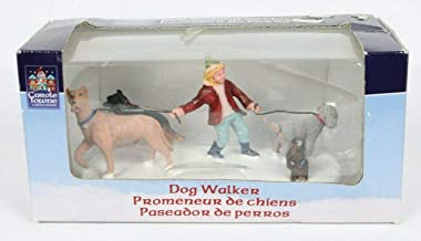 2007 Dog Walker Christmas Village Figurine