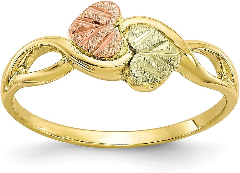 10k Tricolor Black Hills gold Ring
