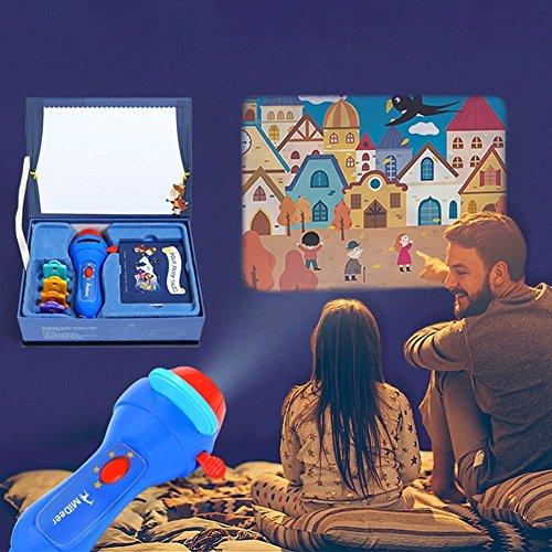 PROACC Verbessert Geschichte Projektion Fackel, Größer Klarer Bilder Beamer, Kinder Projektor Taschenlampe Leuchtend Spielzeug Geschenk zum Kleinkind, Jungen und Mädchen