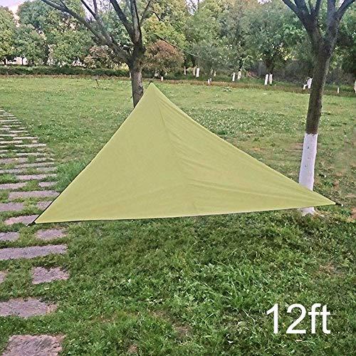 Sun Sonnensegel - UV-Schutz Dach, Regenschutz Sonnenschutz Awing Triangular Überdachung for Outdoor-Garten Innenhof Strand zcaqtajro (Color : Army Green, Size : 20ft)