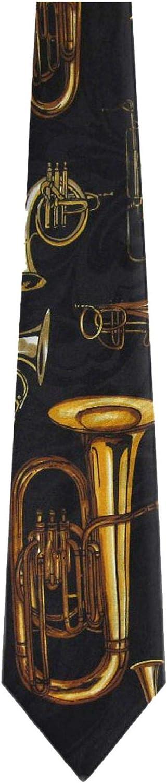 WI-311 Fort Worth price Mall - Mens Novelty Necktie Black Gold Horns