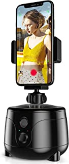 COPLIB Auto Face Object Track Holder Phone، Smart Selfie Stick 360 ° Rotation Tracking Mount Mount، AI Gimbal Personal Robot Cameraman after Shooting، Portable for Vlog Live Video Record، black