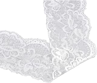 """2  5//8/"""" Wide Holiday  ORANGE  Floral  Venise Lace Trim BTY"""