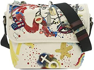 Marc Jacobs Collage Printed Canvas Messenger Bag in Ecru Multi