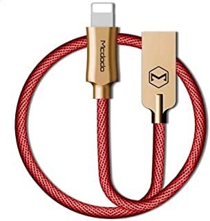 Mcdodo Lightning USB Fast Charging Cable Compatible with IOS Devices 1.2M- RED