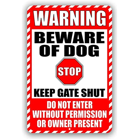 No Trespassing Dogs On Premises Stop Keep Gate Shut Metal Sign Or Decal 7 Sizes