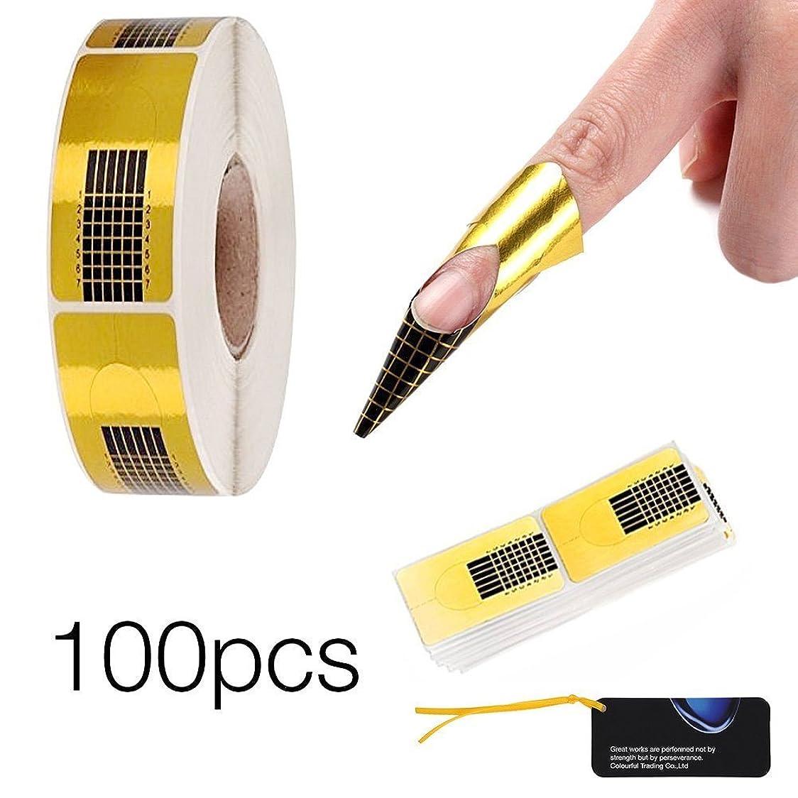 爵モンキー研究所Xiton ネイル保護 簡単 ジェルポリッシュ ネイルプロテクター ピールオフテープ ネイル保護 はみ出し防止 ネイルアートツール 100枚セット