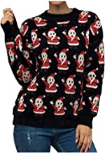 YiYLunneo Women's Christmas Sweater Snowman Snowflake Knitting Sweater Jumper Pullover Tops