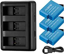 JYJZPB HERO8 Replacement Batteries (3 Packs) and 3 Slots Battery Charger, AHDBT-801 Backup Batteries for GoPro Hero 8/7/6/5 Black and GoPro Hero 2018