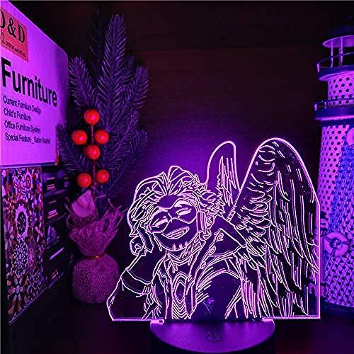 WENJZJ 3D LAMP Anime LED Night Light My Hero Academia Hawks Nightlights Boku no Hero Academia Visual Table Lamp Gift 16 color