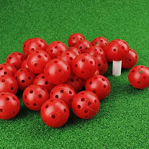 CRESTGOLF Plastic Golf Training Balls Airflow Hollow 40mm Golf Balls for Driving Range Swing Practice Home UsePet Play