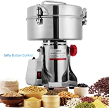 BI-DTOOL 3000G Electric Grain Grinder Stainless Steel Pulverizer Grinding Machine Commercial Cereals Grain Mill for Kitchen Herb Spice Pepper Coffee Button Control