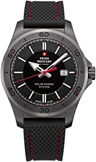 Swiss Military - Sms34074.gy1rub Reloj para Hombre Analógico de Cuarzo con Brazalete de Silicona SMS34074.07