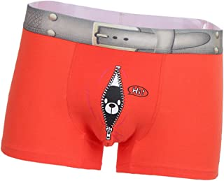 Lovoski Mens Seamless Shorts Trunks Underpants Briefs Underwear Fun Bear Print